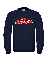 College Sweater Navy gelasert